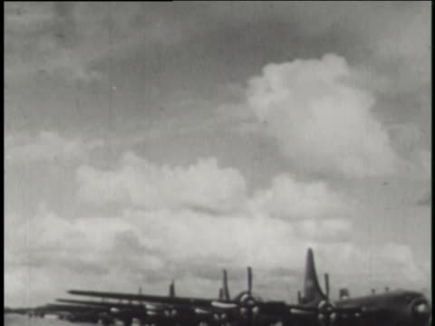 boeing b-29 superfortresses play an important roll in the operation crossroads atomic bomb testing at bikini atoll. - bikini atoll stock videos & royalty-free footage
