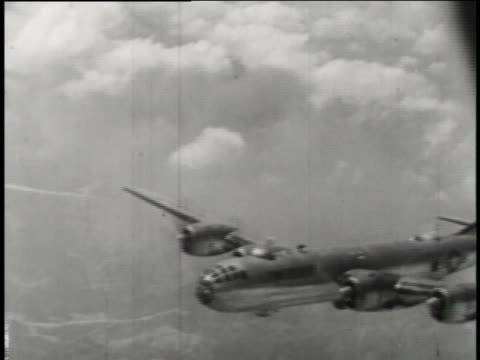 boeing b-29 superfortresses support ground forces with air raids during the korean war. - bomber stock videos & royalty-free footage