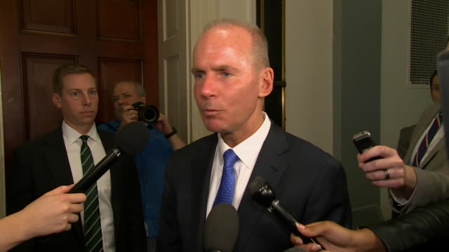 boeing ceo dennis muilenburg remarks after meeting with family members of 737 max crash victims - boeing stock videos & royalty-free footage