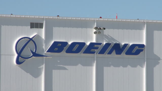 boeing factory on november 30 2011 in charleston south carolina - boeing stock videos & royalty-free footage