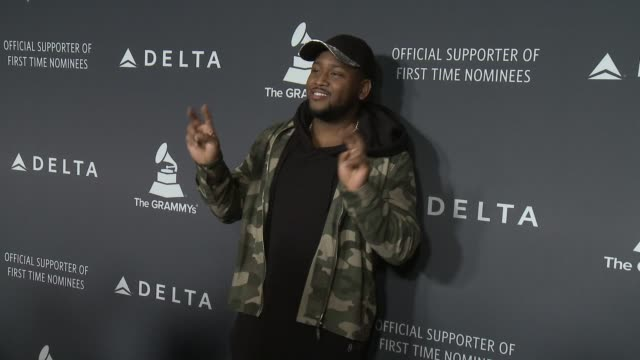 dj boi1da at the delta air lines hosts official grammy event featuring a private performance by firsttime grammynominated artist halsey at beauty... - delta air lines stock-videos und b-roll-filmmaterial