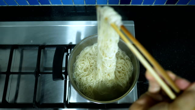 boiled noodles - noodles stock videos & royalty-free footage