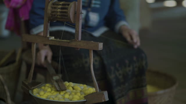 boiled silkworm traditional folkways - ball of wool stock videos & royalty-free footage