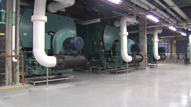 boiler room at hospital at lurie children's hospital on june 11, 2013 in chicago, illinois - boiler stock videos & royalty-free footage