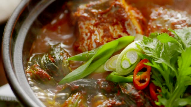 Boiling godeungeo-jorim (braised mackerel) (Popular main dish in Korea)