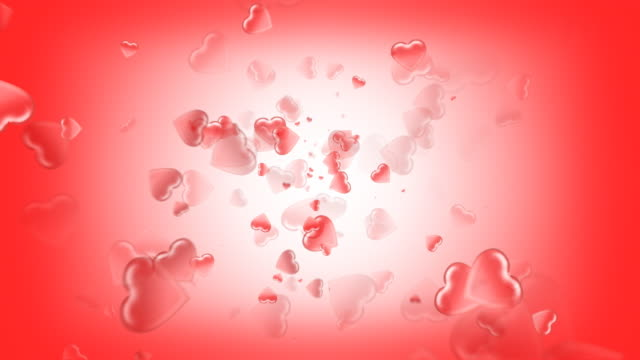 boiling hearts (seamless loop) - depth marker stock videos & royalty-free footage