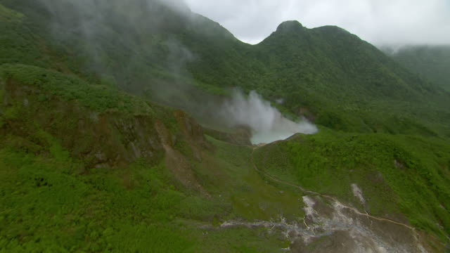 Boiling Lake hot spring in Morne Trois Pitons National Park on the Caribbean Island of Dominica.