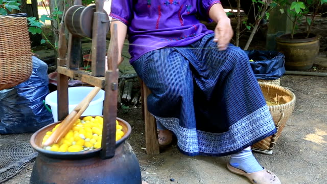 boiling silk cocoons processing - silk stock videos & royalty-free footage