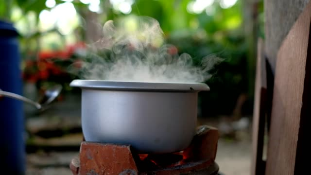 boiling soup with smoke and coal - pan greek god stock videos & royalty-free footage