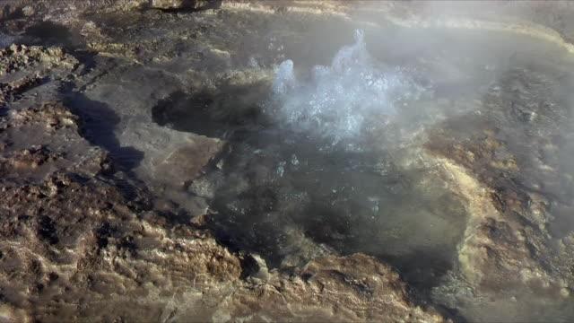 cu boiling water in geyser, el tatio, san pedro de atacama, el loa, chile - san pedro de atacama stock videos & royalty-free footage