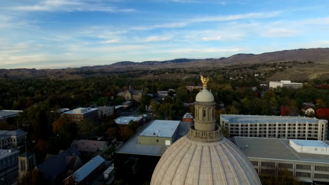Boise Capitol Building Dome Flyby