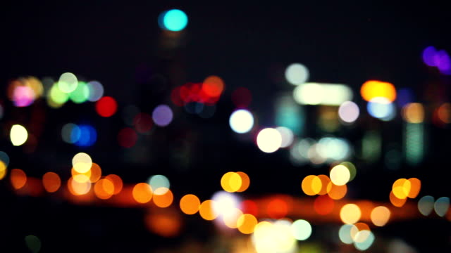 bokeh bangkok - defocussed stock videos & royalty-free footage