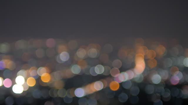 Kreis Bokeh hellen Hintergrund der Stadt im Aufsicht Punkt 4 k (UHD