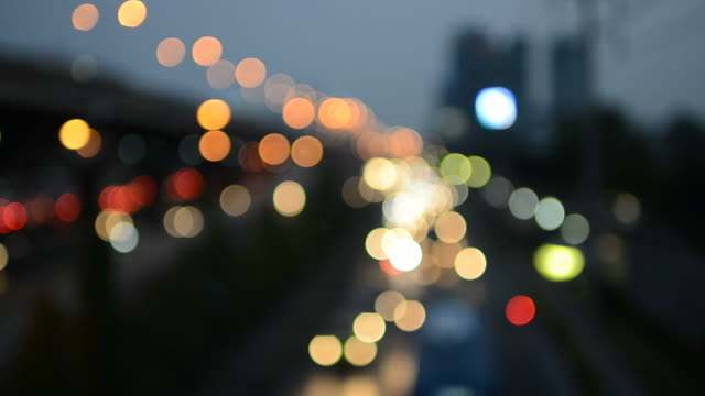 bokeh city background - road signal stock videos & royalty-free footage