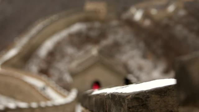 ボケ万里長城の雪で