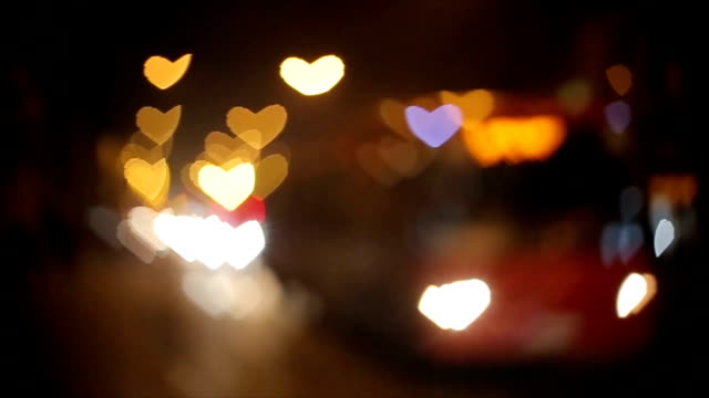 bokeh heart shape effect