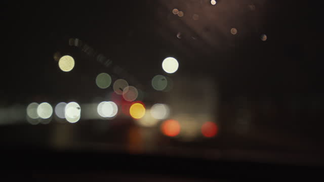 bokeh image from car interior - street light stock videos & royalty-free footage