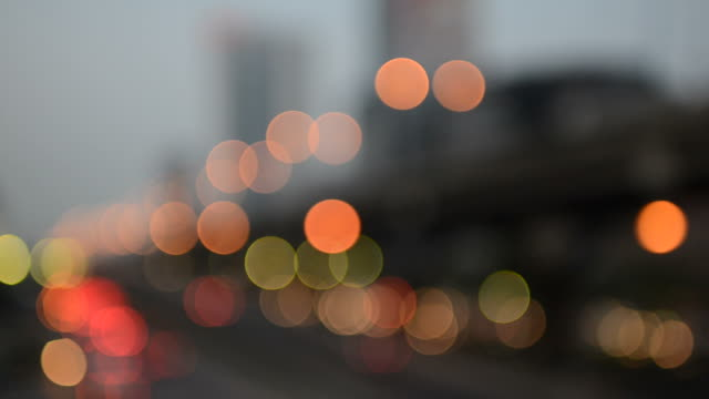 bokeh light city background - image focus technique stock videos and b-roll footage
