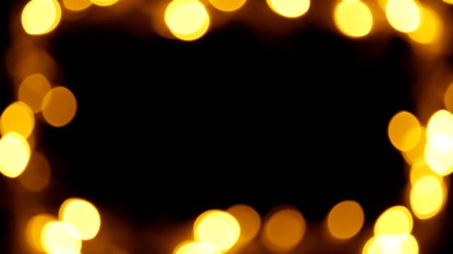 bokeh light frame black background - frame border stock videos and b-roll footage