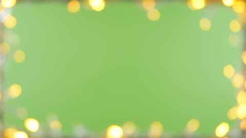 bokeh light frame green screen background - public celebratory event stock videos & royalty-free footage