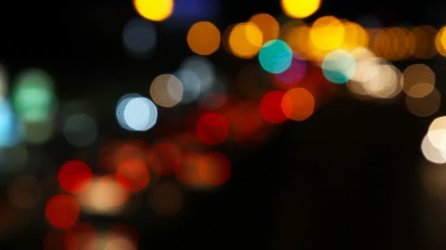 Bokeh Light des Verkehrs