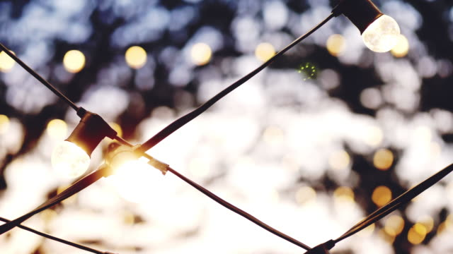 bokeh lights background in party. - formal garden party stock videos & royalty-free footage