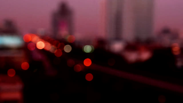 Bokeh night background of city