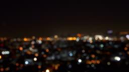 Bokeh of city lights, Blurry photo at night time. 4K cityscape VDO