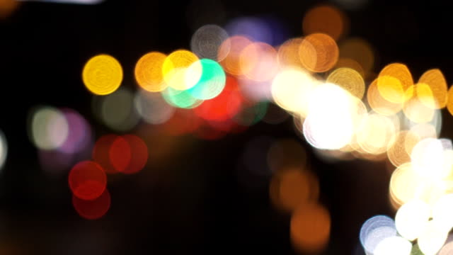 bokeh of traffic light - defocussed stock videos & royalty-free footage