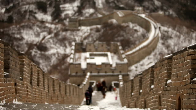 bokeh on top of great wall of china - great wall of china stock videos & royalty-free footage