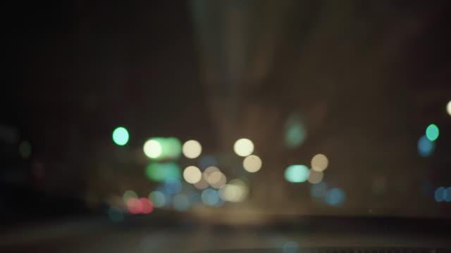 道路上のボケシームレスな背景アニメーション - 霊妙点の映像素材/bロール