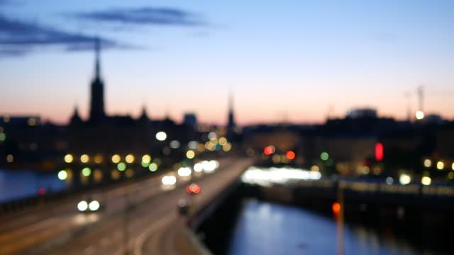 stockvideo's en b-roll-footage met bokeh stockholm stad - stockholm