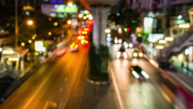 bokeh traffic background - stoplight stock videos and b-roll footage