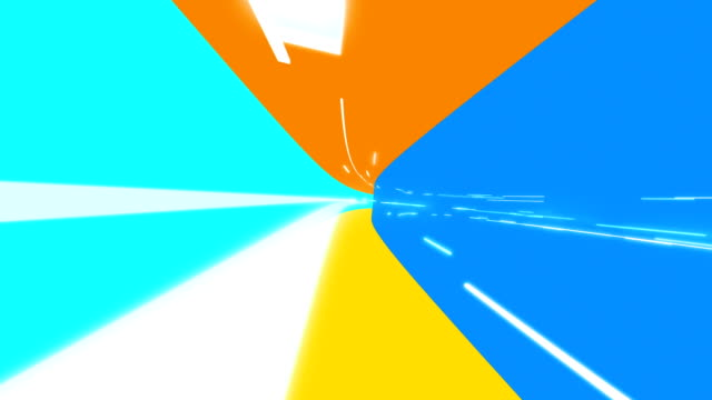 bold colours digital tunnel - illustration stock videos & royalty-free footage