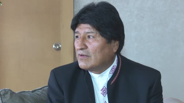 bolivia believes national strife should be resolved through dialogue within a country the bolivian president said on monday referring to political... - ボリビア点の映像素材/bロール