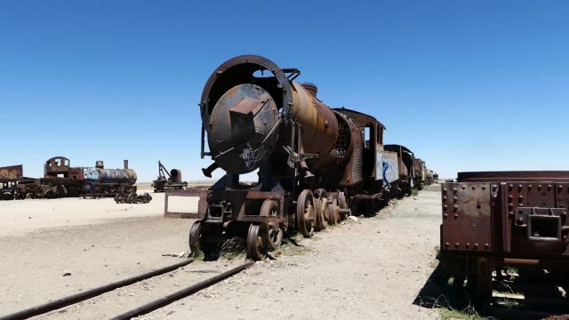 bolivia desert train - abandoned stock videos & royalty-free footage