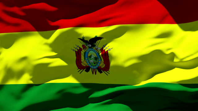 stockvideo's en b-roll-footage met bolivia flag - bolivia