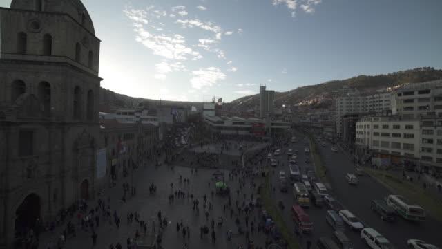 vídeos de stock e filmes b-roll de bolivia - la paz - church - la paz bolívia