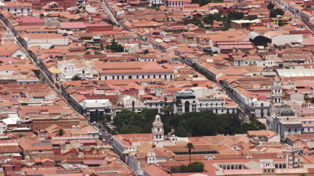 bolivia : wide city plan of sucre - bolivia stock videos & royalty-free footage