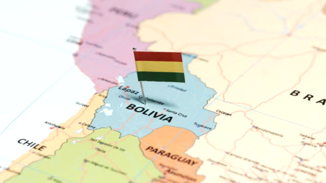 bolivia with national flag - bolivia stock videos & royalty-free footage