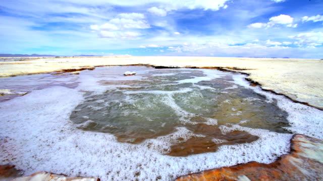 Bolivian Altiplano geothermal pool in Salar de Uyuni