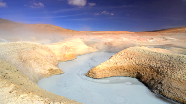 bolivian altiplano geothermal springs salar de uyuni desert - bolivia stock videos & royalty-free footage
