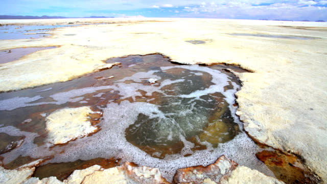 bolivian altiplano geothermal springs salar de uyuni desert - thermal pool stock videos & royalty-free footage