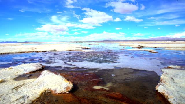 Bolivian Altiplano geothermal springs Salar de Uyuni desert