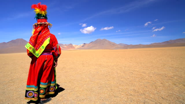 Bolivian female in Eduardo Avaroa National Reserve desert