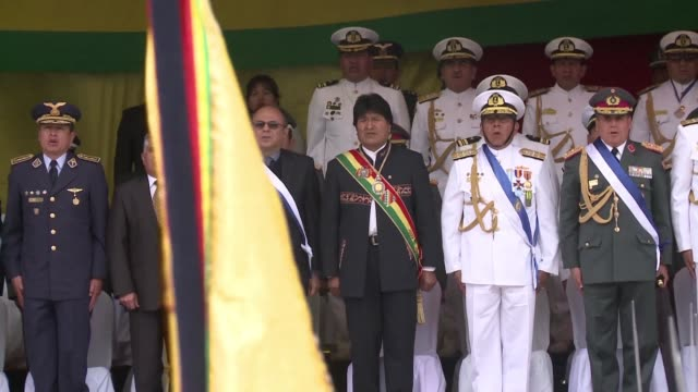 bolivian president evo morales asks chile to start an open dialogue on their ongoing border dispute during celebrations for the anniversary of the... - evo morales stock videos & royalty-free footage