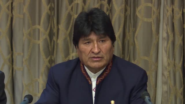 bolivian president evo morales reiterated on friday during his visit to madrid that his country would like to symbolically receive some reparations... - evo morales stock videos & royalty-free footage