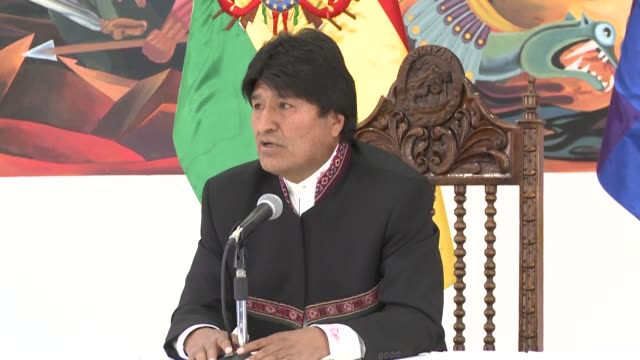 bolivian president evo morales says he plans to send a letter to the un's top court in an effort to appeal its ruling rejecting bolivia's bid to... - evo morales stock videos & royalty-free footage