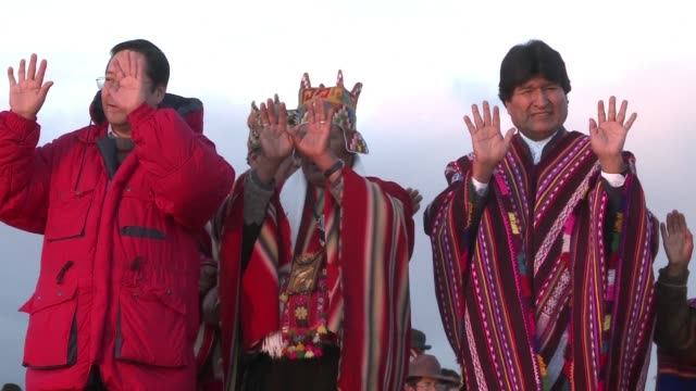 bolivian president evo morales south americas longest serving leader celebrated his record longevity in power wednesday in a dawn ceremony at a pre... - evo morales stock videos & royalty-free footage