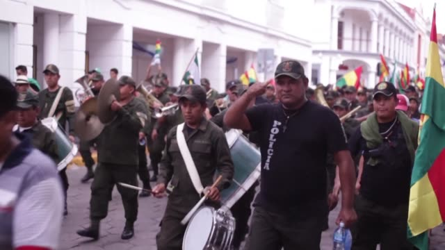bolivians in the opposition stronghold of santa cruz celebrate the resignation of evo morales after the president announced it on television - bolivia stock videos & royalty-free footage